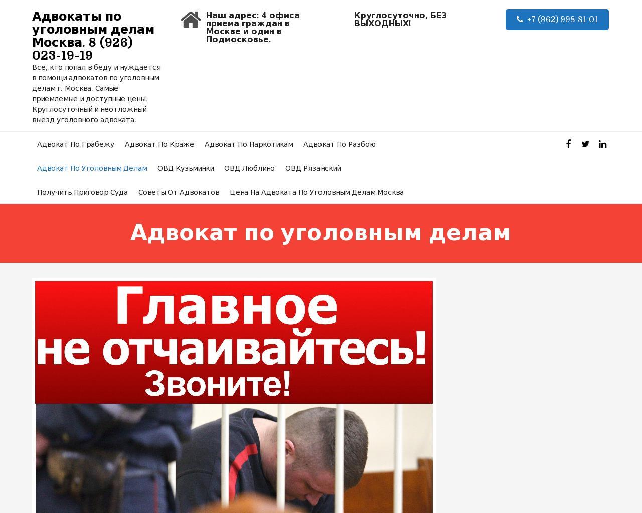 самый лучший адвокат по уголовным делам москва