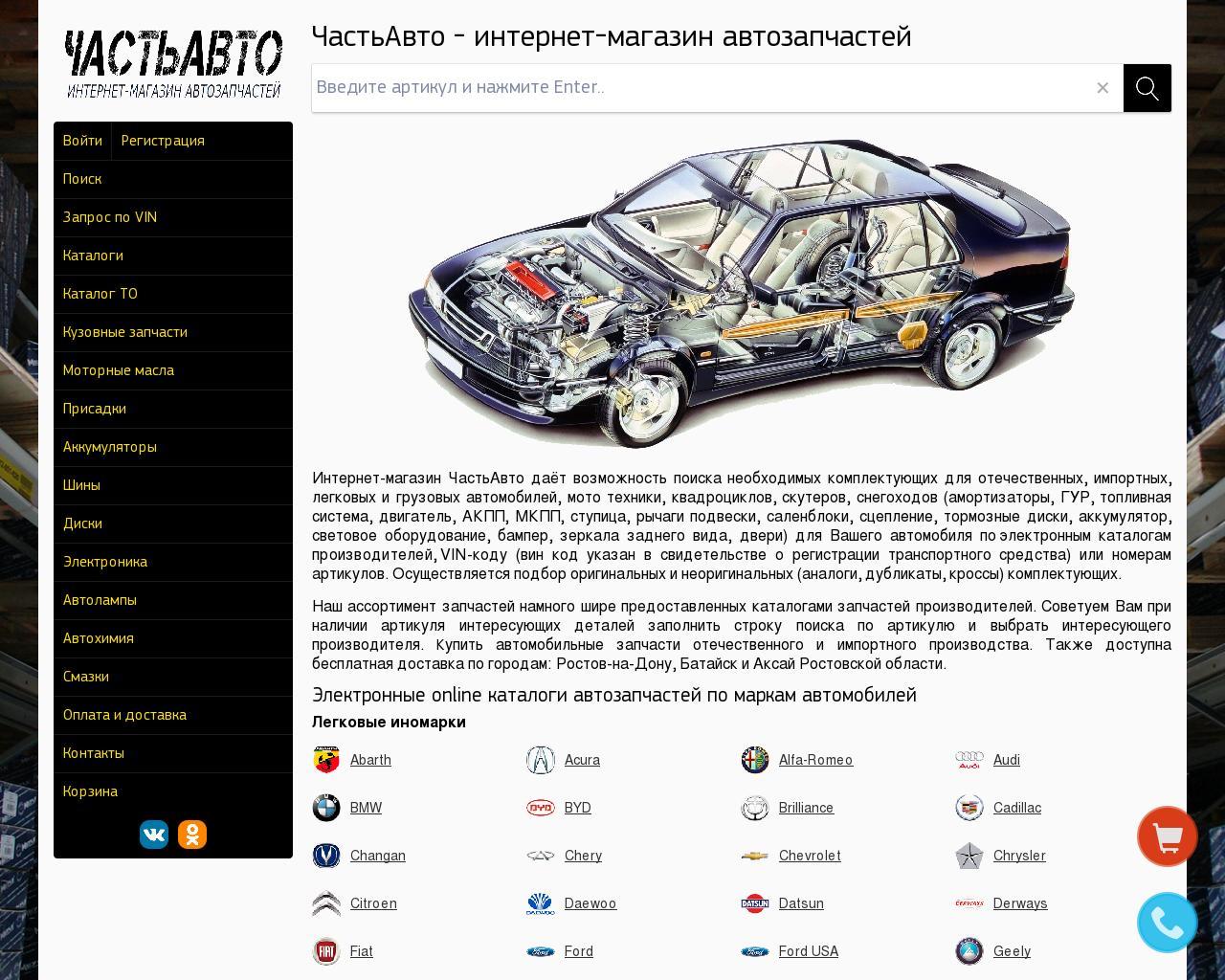 электронный каталог автозапчастей для иномарок настоящие монстры